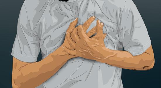 新型コロナウイルス感染+ST上昇型心筋梗塞の症例