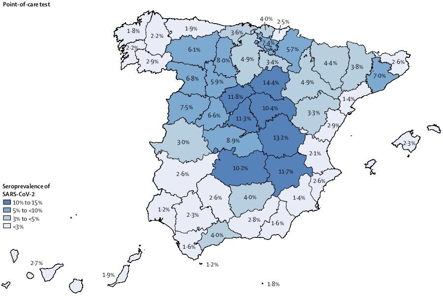 スペインの抗体陽性率